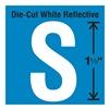 Stranco Inc DWR-1.5-S-5 Die-Cut Reflective Letter Label, S, PK5