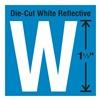 Stranco Inc DWR-1.5-W-5 Die-Cut Reflective Letter Label, W, PK5