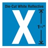 Stranco Inc DWR-1.5-X-5 Die-Cut Reflective Letter Label, X, PK5