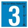 Stranco Inc DWR-5-3-5 Die-Cut Reflective Number Label, 3, PK5
