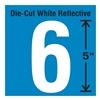 Stranco Inc DWR-5-6-5 Die-Cut Reflective Number Label, 6, PK5