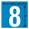 Stranco Inc DWR-5-8-5 Die-Cut Reflective Number Label, 8, PK5