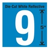 Stranco Inc DWR-5-9-5 Die-Cut Reflective Number Label, 9, PK5
