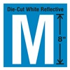 Stranco Inc DWR-SINGLE-8-M Die-Cut Reflective Letter Label, M