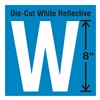 Stranco Inc DWR-SINGLE-8-W Die-Cut Reflective Letter Label, W