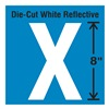 Stranco Inc DWR-SINGLE-8-X Die-Cut Reflective Letter Label, X
