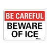 Lyle U7-1004-RA_14X10 Safety Sign, Reflective Alum, 10inHx14inW