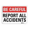 Lyle U7-1025-RA_14X10 Safety Sign, Reflective Alum, 10inHx14inW