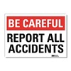 Lyle U7-1025-RD_14X10 Safety Decal, Reflctv Vinyl, 10inH x 14inW
