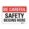 Lyle U7-1027-RA_10X7 Safety Sign, Reflective Alum, 7inHx10inW