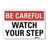 Lyle U7-1054-RD_14X10 Safety Decal, Reflctv Vinyl, 10inHx14inW