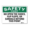 Lyle U7-1221-RD_10X7 Safety Decal, Reflective Vinyl, 7inHx10inW