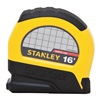Stanley STHT30812 Tape Measure, Steel, Yellow/Black, 16 ft.