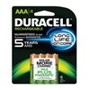 Duracell DX2400R4 Rechargeable Battery, AAA, 800mAh, PK 4