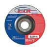 United Abrasives-Sait 22380 Center Wheel, 4.5 In D, 7/8 In AH, 60 Grit