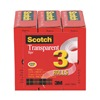 Scotch 600K3 Office Tape, Polyolefin Backing, PK 3