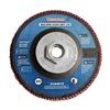 Westward 31EM72 Arbor Mount Flap Disc, 4-1/2in Dia., 120 G