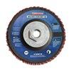 Westward 31EM78 Arbor Mount Flap Disc, 4-1/2in Dia., 120 G