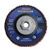 Westward 31EM81 Arbor Mount Flap Disc, 4-1/2in Dia., 24 G