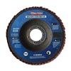 Westward 31EM82 Arbor Mount Flap Disc, 4-1/2in Dia., 24 G