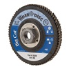 Weiler 50808 Arbor Mount Flap Disc, 4-1/2in, 40, Coarse