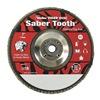 Weiler 50114 Arbor Mount Flap Disc, 7in, 60, Coarse