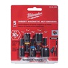 Milwaukee 49-66-4563 Nut Drivers, 1 In, 5Pc, 1/4In Hex, PK5