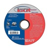 United Abrasives-Sait 22230 Cut-Off Wheel, 4.5 In D, 7/8 In AH, 60 Grit