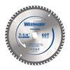 Westward 24EL97 Circular Saw Blades, 7-1/4 In, 60T