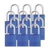 Abus 72/30 KA X 12 Keyed Padlock, Medium, Blue, U-Shape, PK12