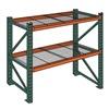 "Wireway Husky 7977600 Complete Pallet Rack and Deck System - Standard Load -108x36x144"" - 4.3""H Beams - Starter Unit"