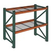 "Wireway Husky 7976400 Complete Pallet Rack and Deck System - Standard Load -96x42x120"" - 3.5""H Beams - Starter Unit"