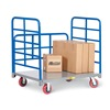 "Little Giant DRB-2448-6PY Platform Trucks with Lattice Handles - 48""Lx24""W Deck - Two 36"" End Handles, One 24""H Side Rack"