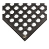 Wearwell 789.12X3X3GRBK Antifatigue Drainage Mat, 1/2in.Thick