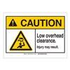 Brady 144002 Caution Sign, 3-1/2in.Hx5in.W, Overhead