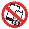 Intersign NC-88 Cell Phone Policy Sign, 7-3/4in.W, Symbol