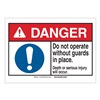 Brady 143911 Danger Sign, Guards, B-302,3-1/2in.H