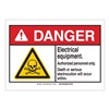 Brady 144621 Danger Sign, Electrocution, B-302,3-1/2inH