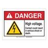 Brady 144386 Danger Sign, HV Contact, B-302,2-1/4in.H