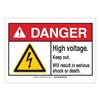 Brady 144648 Danger Sign, Keep Out, B-302,3-1/2in.H