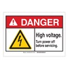 Brady 144459 Danger Sign, Power Off, B-302,3-1/2in.H