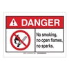 Brady 143785 Danger Sign, No Sparks, B-302,3-1/2in.H