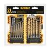 DEWALT DW1361 Drill Bit Set, Titanium, 21 pcs.