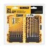 DEWALT DW1342 Drill Bit Set, Titanium, Speed Tip, 21 pcs.
