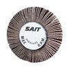 "United Abrasives-Sait 70040 1-1/2"" x 1"" Flap Wheel,  1/4"" Shank Size,  60 Grit, Pack of 10"