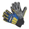 Impacto WGCOOLRIGGXXXL Impact Gloves, 3XL, Blue/Blk/Gray/Yllw, PR