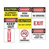 Tarifold P1949AS Safety Sign, Assorted, 8+?-+ x 11 in., PK9