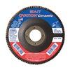 """United Abrasives-Sait 78262 4-1/2"""" Flap Disc,  7/8"""",  60 Grit,  Type 27 Zirconia Alumina,  Ovation Ceramic Series"""