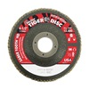 """Weiler 50131 4-1/2"""" Flap Disc,  7/8"""",  60 Grit,  Type 27 Ceramic,  Saber Tooth Series, Pack of 10"""