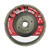 "Weiler 50135 4-1/2"" Flap Disc,  5/8""-11,  80 Grit,  Type 27 Ceramic,  Saber Tooth Series"